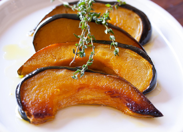 Green Acorn Squash With Honey Vinaigrettte