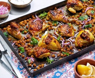 Sheet-Pan Chicken With Chickpeas, Cumin and Turmeric