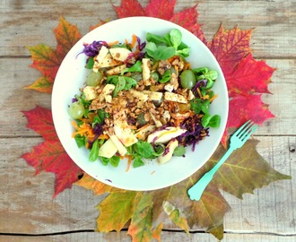 Salade d'automne au gouda au cumin, noix et noisettes (Autumn salad with cumin gouda, walnut and hazelnut)