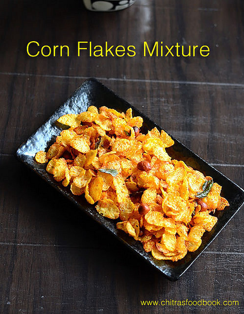 Corn Flakes Mixture Without Oil – Kellog's Corn Flakes Chivda – Low Calorie Snacks