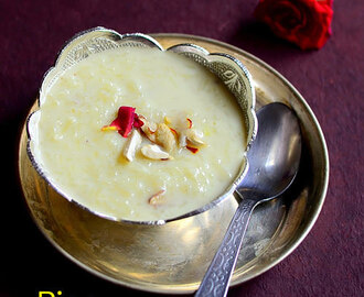 Rice Kheer Recipe Without Condensed Milk – Chawal Ki Kheer With Video