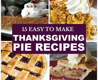 15 Thanksgiving Pie Recipes for Dessert
