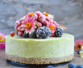 Avocado and mango mini cheesecake