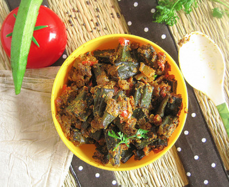 bhindi curry / okra curry / ladies finger curry