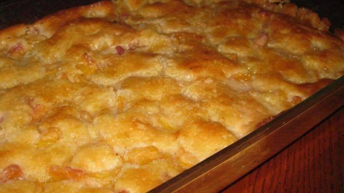 Lazy Man's Pie Peach Cobbler