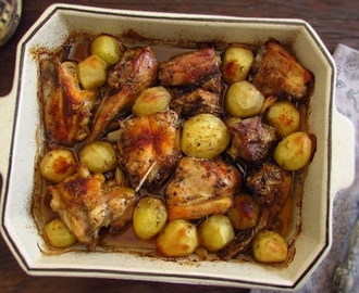 Chicken in the oven with red wine | Food From Portugal