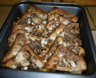 Madhouse recipe : Chocolate chip brioche bread & butter pudding