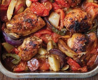 Hairy Bikers' Spanish chicken bake