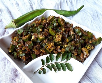 Lady finger pepper fry / okra fry