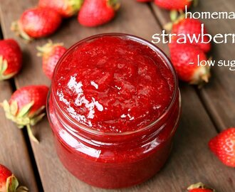 strawberry jam recipe | homemade low sugar strawberry jam