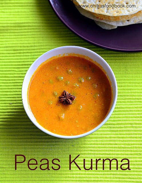 Peas Kurma For Chapathi, Poori – Pattani Kurma Recipe