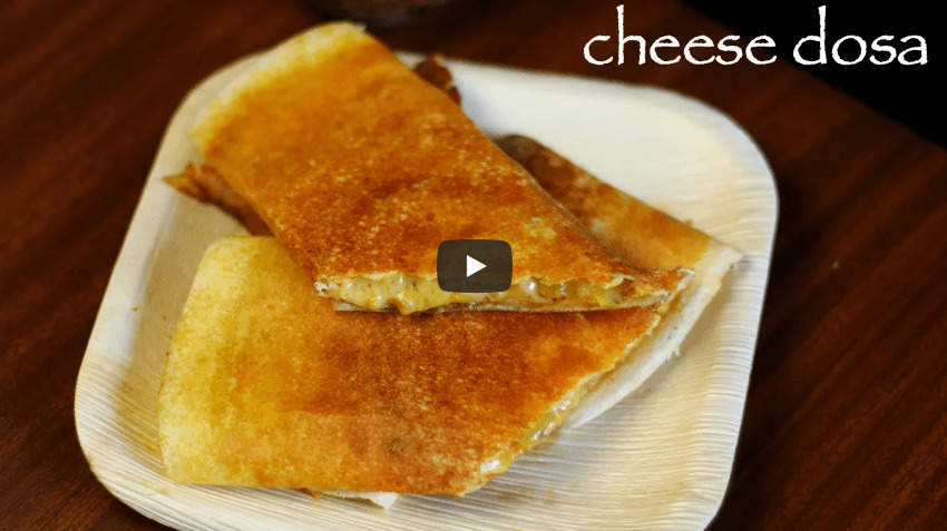 Cheese Masala Dosa Recipe Video