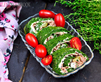 Spinach and tuna roulade recipe