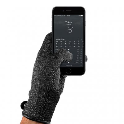 Mujjo Double-Layered Touchscreen Gloves - Extra varma pekskärmsvantar! (Storlek:: Small)