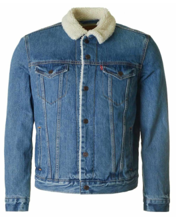 Levi's Red Tab Levis röda fliken Sherpa Denim jacka Nål Medium
