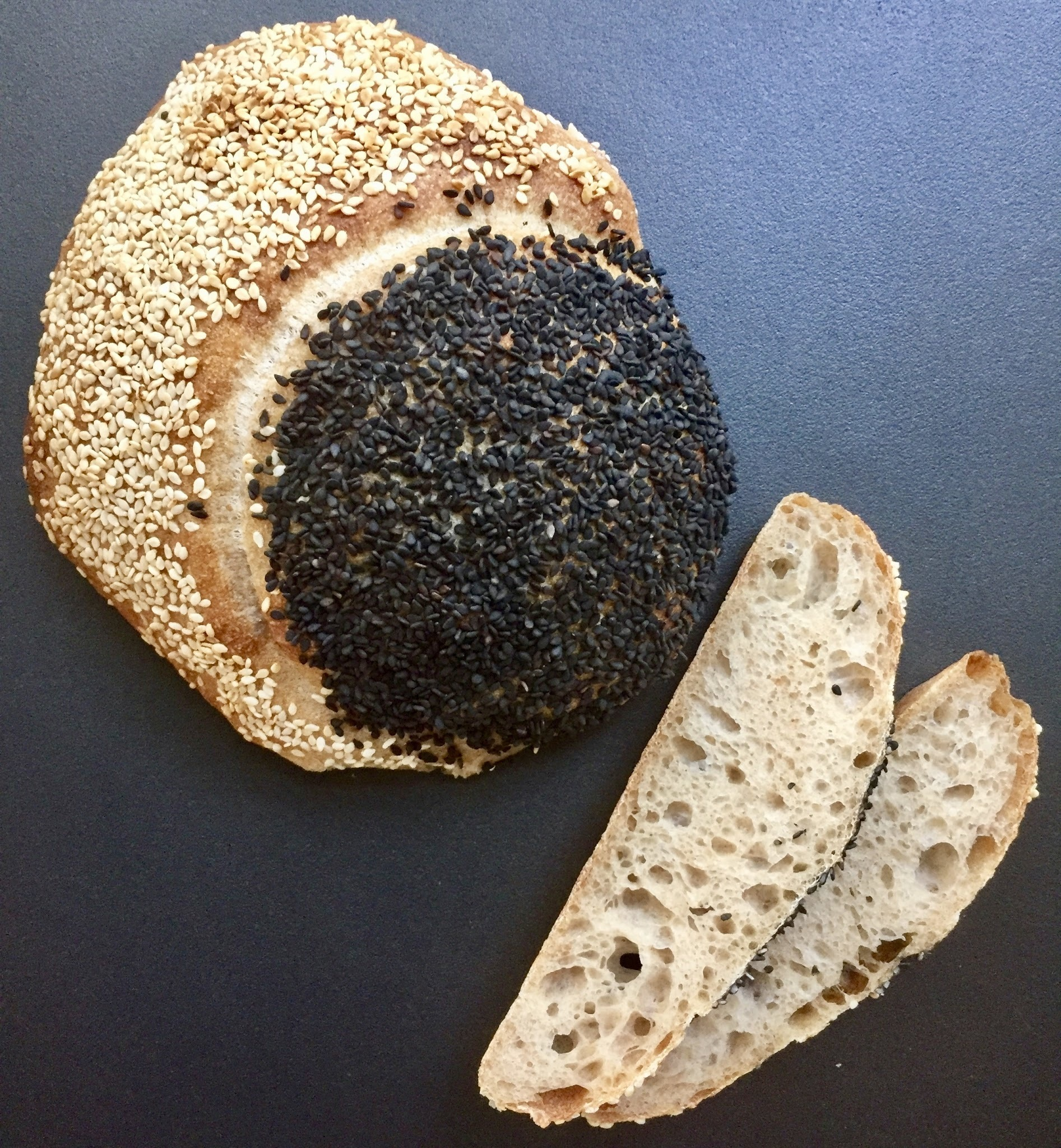SOLAR ECLIPSE BREAD - A CRUSTY SESAME LOAF FOR A RARE EVENT