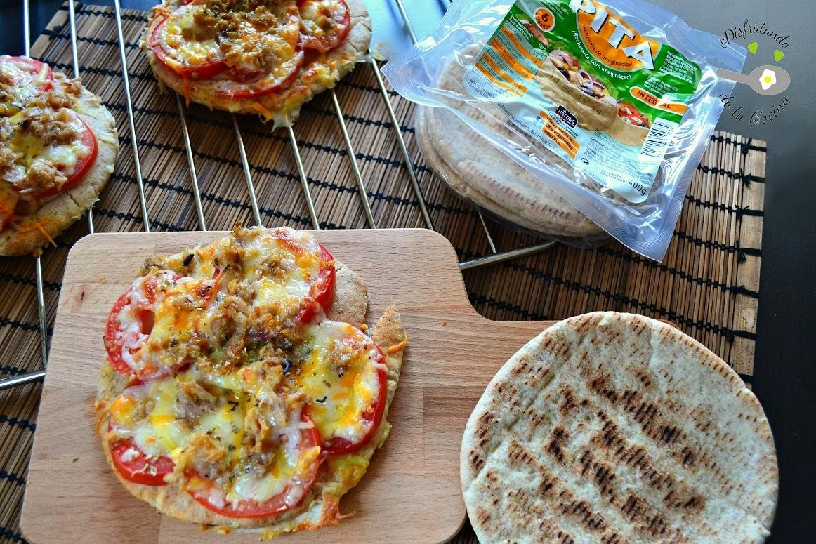Pizza de pan de pita