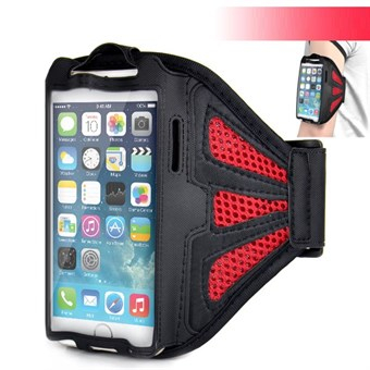 Meshi Armband för iPhone 6 Plus / iPhone 6s Plus / iPhone 7 Plus / iPhone 8 Plus - Röd