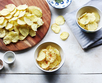 Homemade crisp no fat potato chips