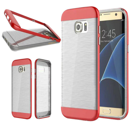 Samsung galaxy s7 edge armor duo skal tpu mix pc röd