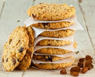Receta de Galletas de avena, pasas y chocolate