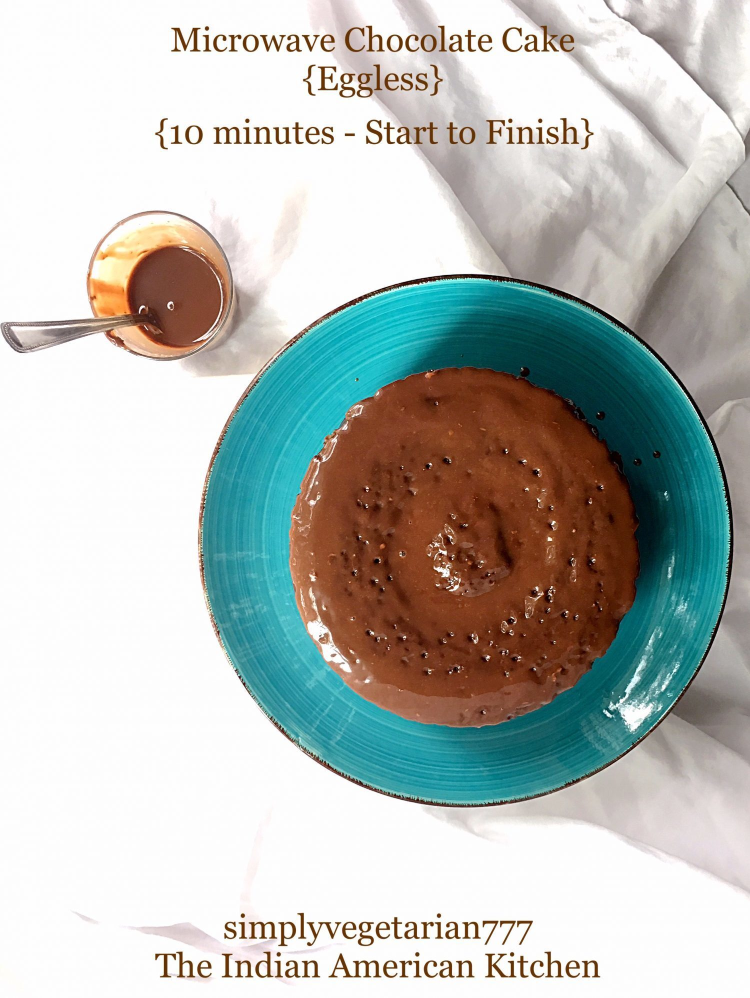 Microwave Chocolate Cake {Eggless}