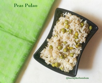 Peas Pulao / Matar Pulao / Pattai Pulav | Lunchbox Recipes