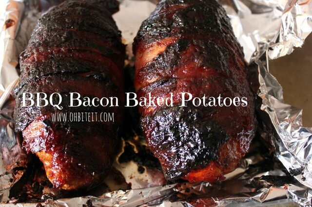 ~BBQ Bacon Baked Potatoes!