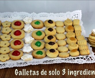 Galletas de 3 ingredientes faciles y rapidas