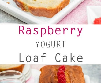Raspberry Yogurt Loaf Cake