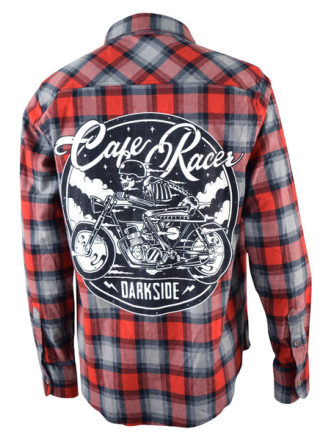 Cafe racer checked flannel shirt medium