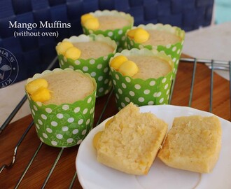 CUPCAKE RECIPE - MANGO CUPCAKES WITHOUT OVEN