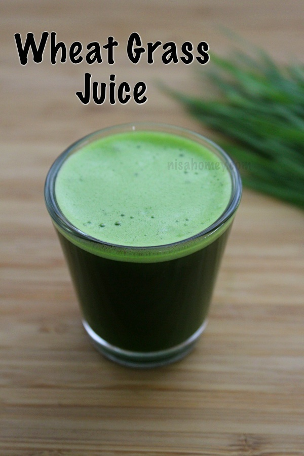 Wheatgrass Juice Recipe - How To Make Wheatgrass Juice At Home