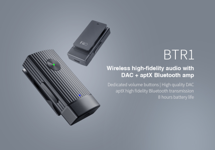 FiiO BTR1 - Wireless HiFi Audio with DAC + aptX Bluetooth Amp