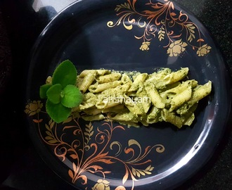 Mexican Mint-Peanuts Pesto Pasta