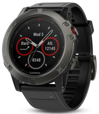 Garmin Fenix 5X GPS Watch Slate Grey/Black 2017 Outdoorklockor