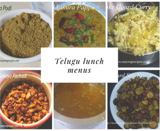 Telugu Lunch Menu
