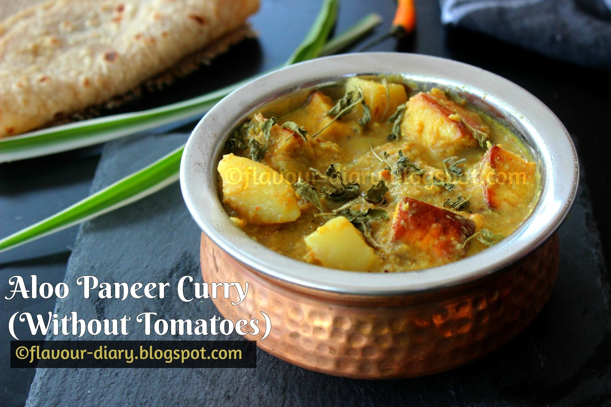 Aloo Paneer Curry without Tomatoes recipe | Flavour Diary | Indian Vegetarian Curry