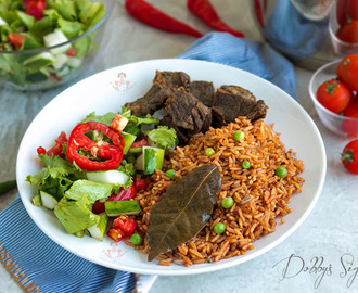 Nigerian Party Jollof Rice - Smokey Beef Flavor