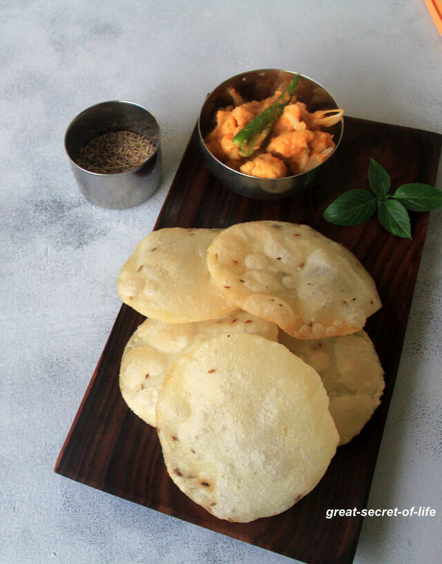 Rice Poori Recipe - Rice flour Poori Recipe - Breakfast Recipes - Dinner Recipes