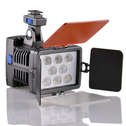Dot.Foto VL-007 professionell 8-LED Video ljus Digital kamera video...