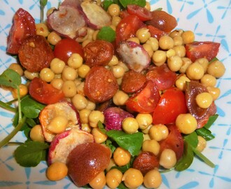 Chorizo, Roasted Radish and Chickpea Salad with a Sumac Dressing Recipe – spaulyseasonalservings