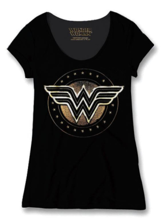 Tshirt Dam Wonder Woman - Logo