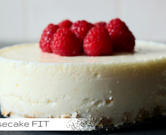 Cheesecake Saudável Com Framboesas | Cheesecake FIT