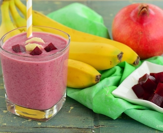 Banana pomegranate beetroot smoothie