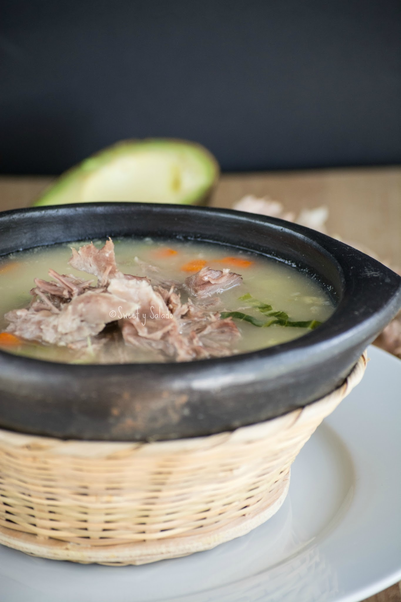 Colombian Bulgur Wheat & Pork Spine Soup (Cuchuco de Trigo Con Espinazo)