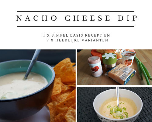 Nacho cheese dip basis recept met 9 varianten