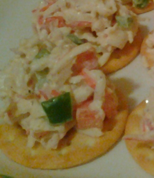 Spicy Crab Salad Canapes