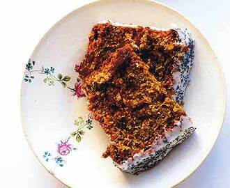 Nigel Slater recipe: an extremely moist chocolate beetroot cake with crème fraîche and poppy seeds