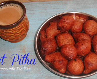 Koat Pitha - Banana Fritters with Rice Flour